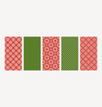 collection knitted seamless patterns with vector image