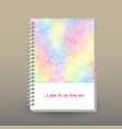 cover of diary pastel color spectrum polygonal vector image vector image
