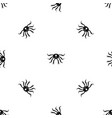 crab seafood pattern seamless black vector image vector image