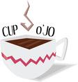 Cup O Jo vector image vector image