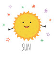 cute sun for children on vector image vector image