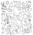 Doodle easter vector image vector image