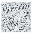 Electricians Guide For Staying Healthy On The Job vector image vector image