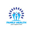 family health logo designs vector image
