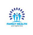 family health logo designs vector image vector image