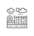 farm and farming fields landscape line icon vector image vector image
