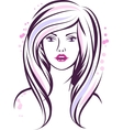 Fashion girl portrait beautiful woman with long vector | Price: 1 Credit (USD $1)