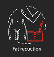 fat reduction chalk icon vector image vector image