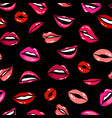 female comic lips seamless pattern template vector image vector image
