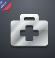 first aid kit icon symbol 3D style Trendy modern vector image