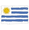 Flag of Uruguay handmade vector image