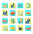 Flat icons cat set slant shadow vector image vector image