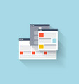 Flat web icon Browser interface window vector image