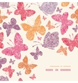 Floral butterflies corner decor pattern background vector image vector image