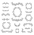 floral frame border wreath dividers calligraphic vector image