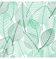 Foliage green leaves seamless pattern vector image vector image
