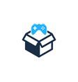 game box logo icon design vector image