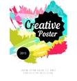 Hand drawn watercolor poster vector image vector image