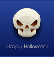 happy halloween angry skull vector image
