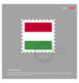 hungary flag design vector image