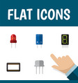icon flat electronics set of receiver unit vector image vector image
