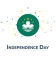 independence day of macau patriotic banner vector image vector image