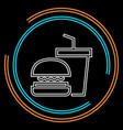 junk food icon - fast food icon - burger vector image