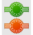 label in two colors vector image vector image