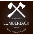 lumberjack logo label with axes vector image