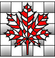 maple leaf on chess board vector image