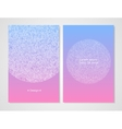 Modern card templatepink and blue color vector image vector image