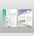 Modern triangle presentation template business
