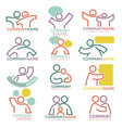 mother and child care icons for parental vector image vector image