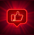 neon sign color like vector image vector image