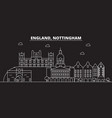nottingham silhouette skyline great britain vector image vector image