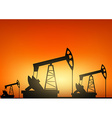 Oil pump oil rig energy industrial machine vector image vector image
