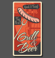oktoberfest brewery pub beer sausage grill vector image vector image