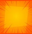 orange explosive and burst template vector image vector image