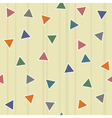 pattern triangles vector image vector image