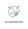 pie diagram sign line icon linear concept vector image vector image