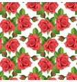 red rose seamless background vector image vector image