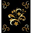 royal gold pattern vector image vector image