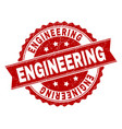 scratched textured engineering stamp seal vector image