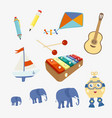 set of symbols toy vector image vector image