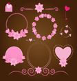 Set wedding ornaments and decorative elements