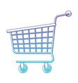 shopping cart icon in degraded purple to blue vector image vector image