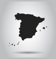 spain map black icon on white background vector image vector image