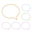 Speech Bubbles Made Of Rope Or Thread Set vector image