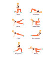sport woman 8 exercis vector image vector image