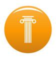 square column icon orange vector image vector image